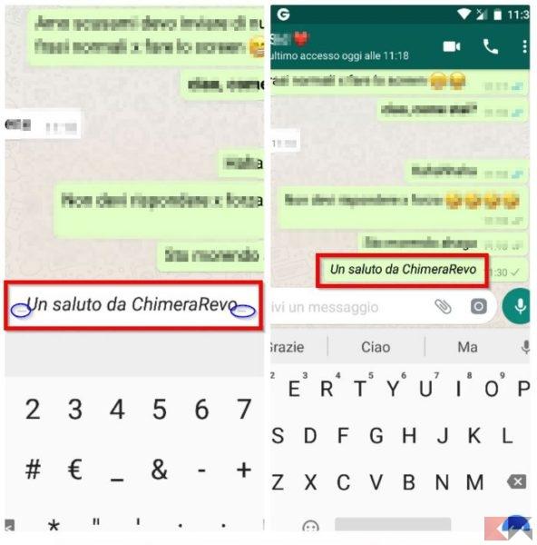 Scrivere in corsivo su Whatsapp