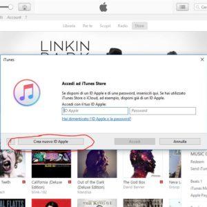 Crea nuovo ID Apple