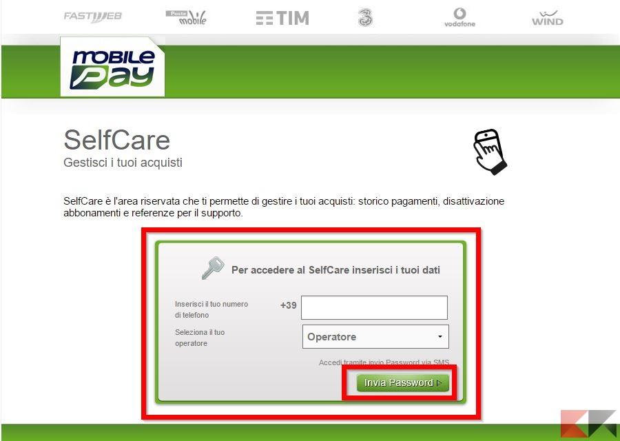 disattivare mobilepay