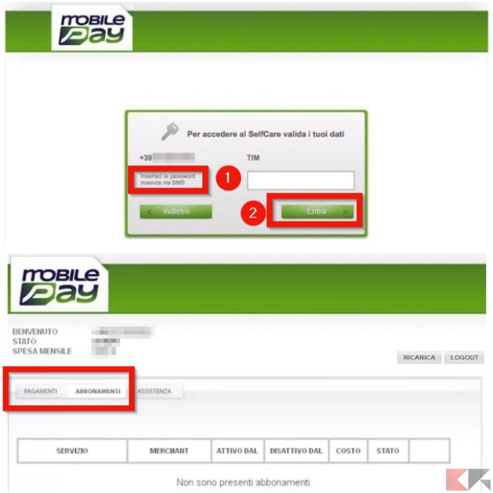 Come disattivare mobilepay e annullare l 39 abbonamento for Area clienti 3 servizi in abbonamento