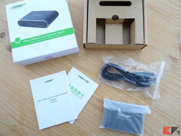 Ugreen adattatore USB a HDMI VGA alimentato
