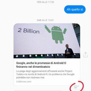 reazioni facebook messenger