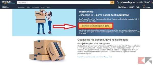 Amazon Prime - prova gratuita