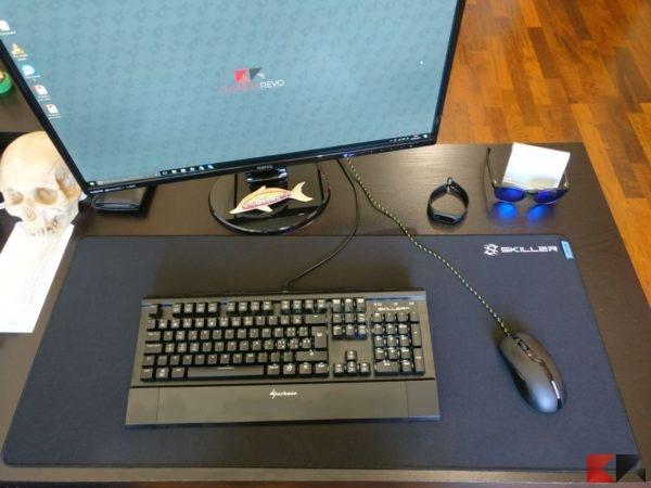tappetino mouse tastiera sharkoon