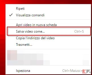 salvare video in streaming