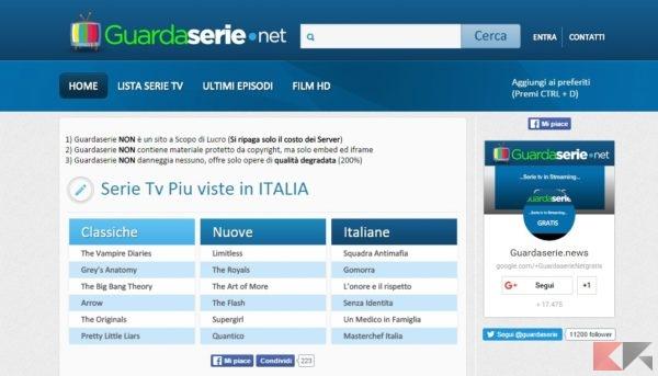 streaming serie Tv: Guardaserie.net