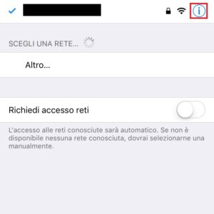 cambiare dns iphone