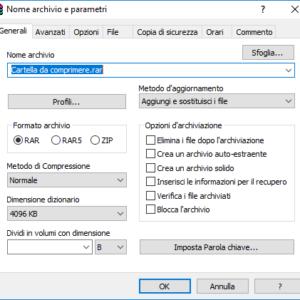 Proteggere archivio RAR ZIP
