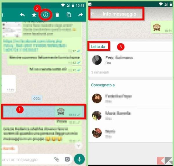 Come sapere chi visualizza messaggi nei gruppi Whatsapp