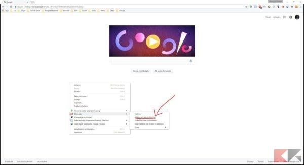 Bloccare sito Chrome