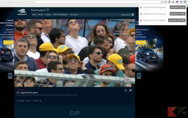 video da mediaset con chrome