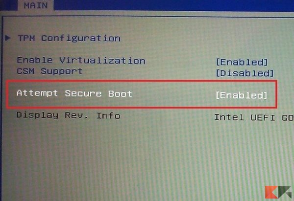 UEFI- secure boot