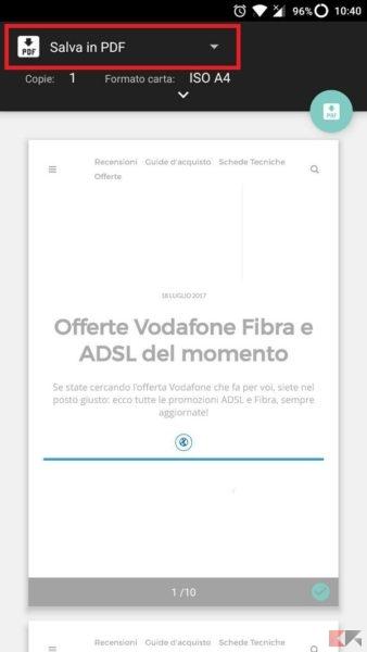 Come creare PDF con Android