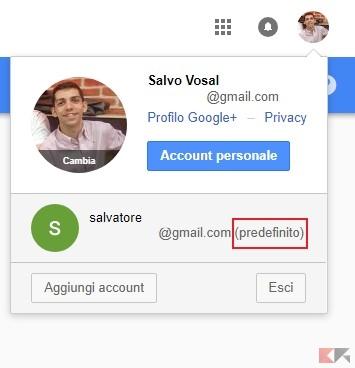 account predefinito di Google: come scegliere l'utente principale