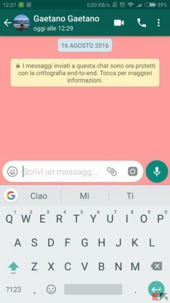 Come cercare GIF su WhatsApp per Android