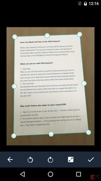 Come creare PDF con Android - CamScanner