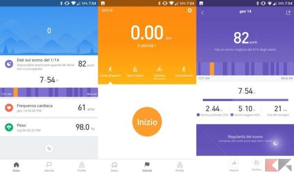 Mi Fit 3.0: la nuova interfaccia