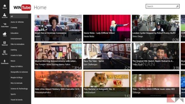 Migliori app per scaricare video YouTube nel Windows Store: Win Tube