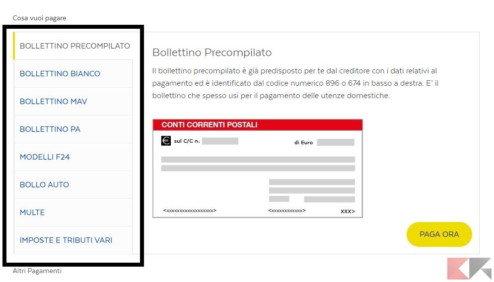 Come pagare bollette online luce internet acqua for Bollettino precompilato
