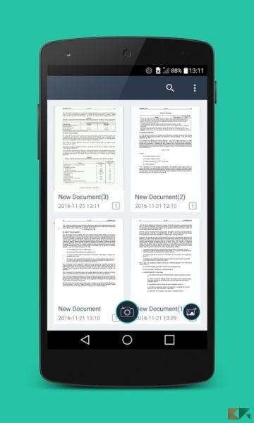 Come creare PDF con Android - Simple Scan