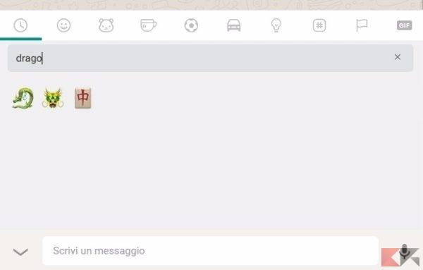 cercare emoji whatsapp web