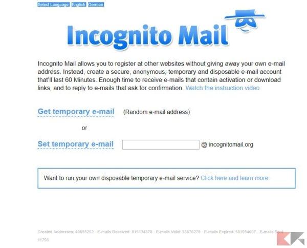 Incognito mail