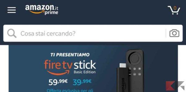 come risparmiare su Amazon app