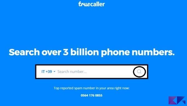 Scoprire a chi appartiene un numero di cellulare - Truecaller