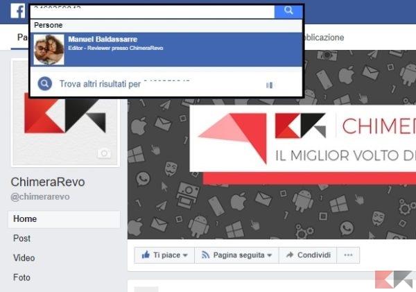 Scoprire a chi appartiene un numero di cellulare - Facebook