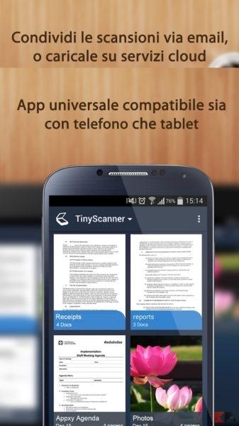 Come creare PDF con Android - Tiny Scanner
