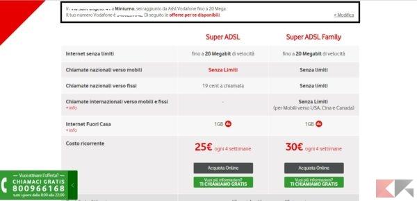 Copertura Vodafone Fibra e ADSL: come verificarla
