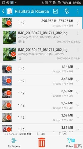 Trovare e cancellare file doppi su Android - Ricerca File Duplicati (SDF)