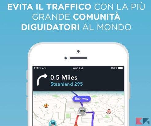 Le migliori app per auto - Waze