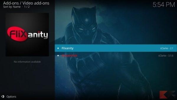 Addon kodi per Streaming 4k: FliXanity