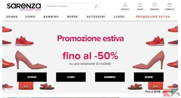 27ea665c1c426f Un altro sito molto famoso e sicuro, ma soprattutto fornito, che vogliamo  consigliarvi è Sarenza, specializzato nella vendita di scarpe ma anche  altri ...