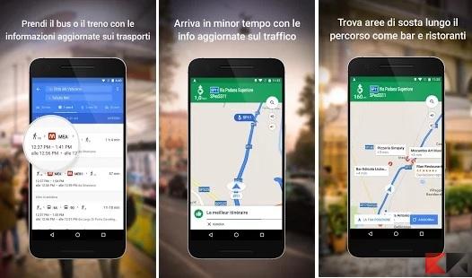 Le migliori app per auto - Google Maps