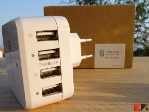 Caricabatterie USB 4 porte Syncwire