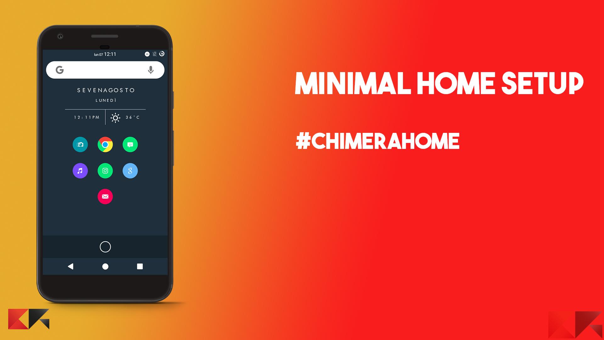 Personalizzare android minimal home setup chimerahome - Rubrica android colori diversi ...