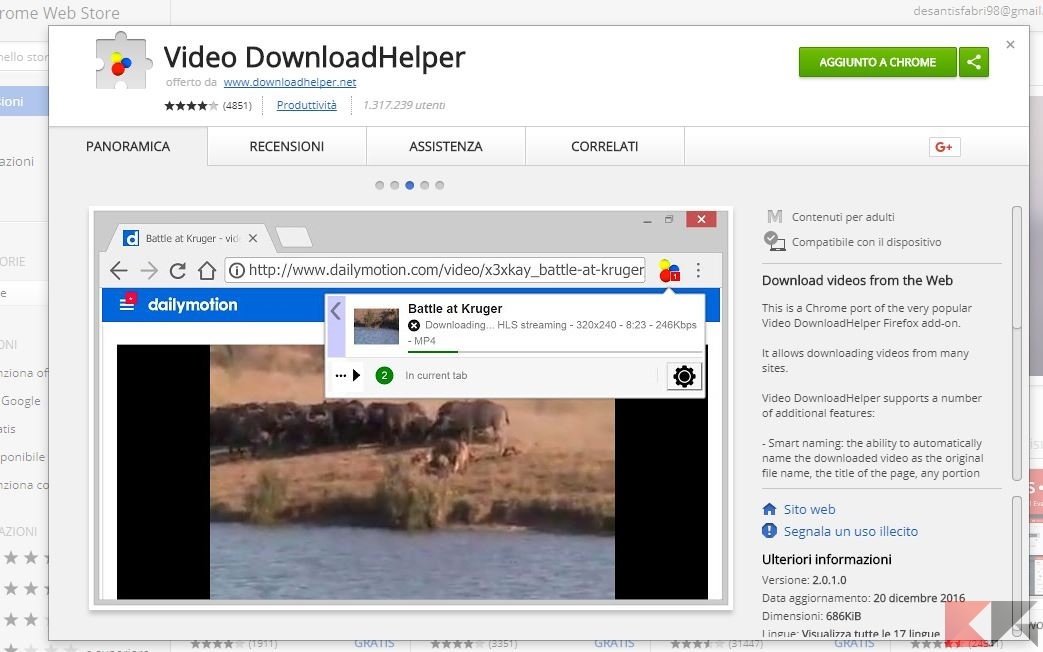 video da rai replay con chrome