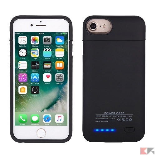 iphone 7 custodia batteria