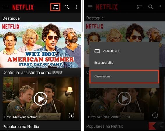 Serie Tv su Chromecast Netflix