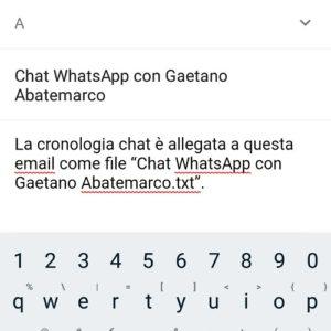 esportare conversazioni WhatsApp in PDF