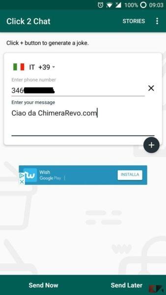 Inviare messaggi WhatsApp senza aggiungere contatti