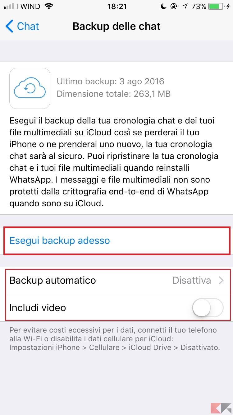 conversazioni whatsapp da icloud