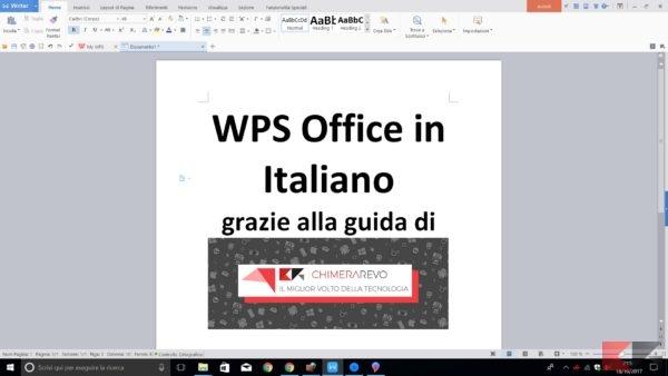 Wps office in italiano