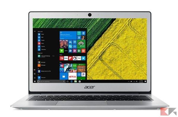 Migliori portatili con schermo FullHD: Acer Swift 1