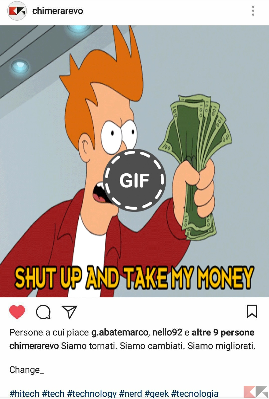 come condividere GIF su Instagram