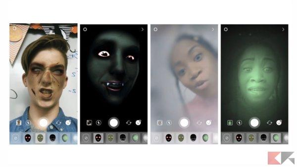 effetti halloween facebook e instagram