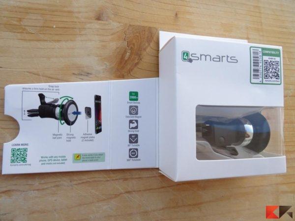 Supporto magnetico per auto 4smarts VentMag EVO 2carry