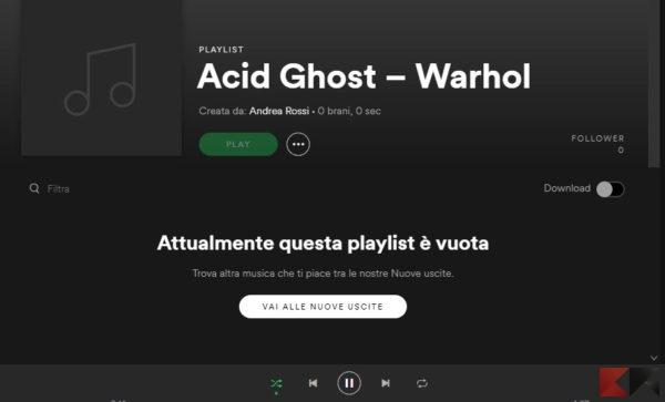 scaricare musica da spotify